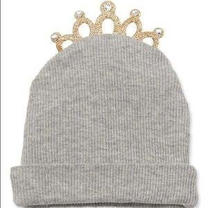 Mudpie princess tiara beanie with rinestones